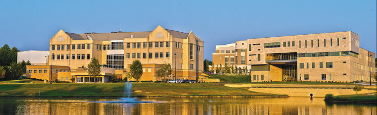Liberal Arts Center, Business and Engineering Center (lake view)